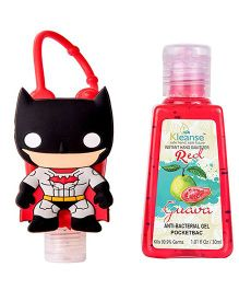 Kleanse's Anti Bacterial Guava Hand Sanitizer With Batman Shape Holder - 30 ml
