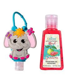 Kleanse's Anti Bacterial Guava Hand Sanitizer With Elephant Shape Holder - 30 ml
