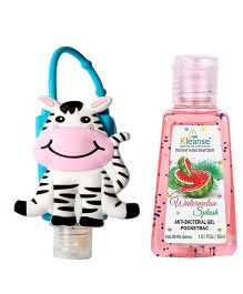 Kleanse's Anti Bacterial Watermelon Hand Sanitizer With Zebra Shape Holder - 30 ml
