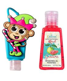 Kleanse's Anti Bacterial Guaava Hand Sanitizer With Monkey Shape Holder - 30 ml