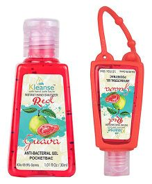 Kleanse's Anti Bacterial Guava Hand Sanitizer With Holder - 30 ml