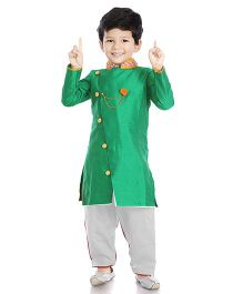 Little Pockets Store Sherwani Set - Green