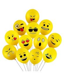 SmartCraft Emoji Balloons Pack of 100 - Yellow