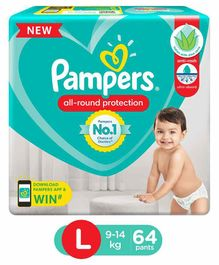 Pampers Pant Style Diapers Large - 64 Pieces
