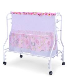 Babyhug Cozy Nest Cradle With Mosquito Net - Pink