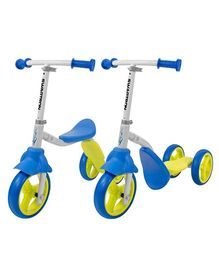 Swagtron K2 Toddler 3 Wheel Scooter & Ride-on Balance Trike - Blue