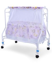 Babyhug Cozy Nest Cradle With Mosquito Net - Purple