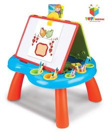 Toys Bhoomi Double Sided Easel With Magnetic Drawing Board - Multi Color