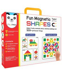 Play Panda Senior Fun Magnetic Shapes Type 1 - 44 Magnetic Shapes