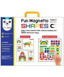 Play Panda Junior Fun Magnetic Shapes Type 2 - 58 Magnetic Shapes