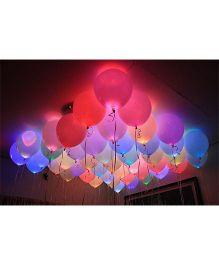 Smartcraft LED Balloons - Pack of 25 (Colour May Vary)