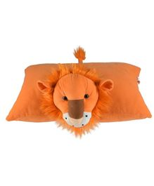 Ultra Lion Folding Pillow - Orange
