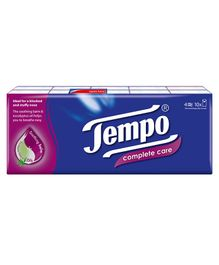 Tempo Complete Care Handkerchief Tissues - Pack of 10