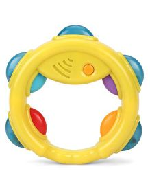 Giggles Tambourine Rattle (Color May Vary)