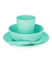 Bobo&Boo Bamboo Dinnerware Set of 5 - Green