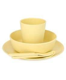 Bobo&Boo Bamboo Dinnerware Set of 5 - Yellow
