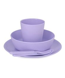 Bobo&Boo Bamboo Dinnerware Set of 5 - Purple