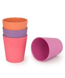 Bobo&Boo Bamboo Drinking Cups Set of 4 - Orange Pink Purple