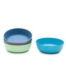 Bobo&Boo Bamboo Snack Bowls Set of 4 - Blue Green Grey