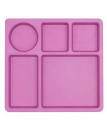 Bobo&Boo Bamboo 5 Sectioned Plate - Pink