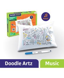 Jungle Magic Doodle Artz Music Theme Set of 6 - Multicolour