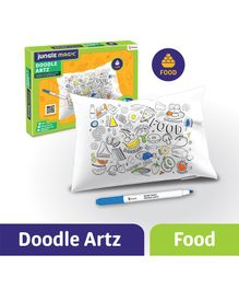 Jungle Magic Doodle Artz Food Theme Set of 6 - Multicolour