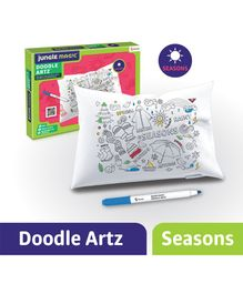Jungle Magic Doodle Artz Seasons Theme Set of 6 - Multicolour