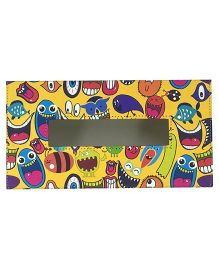 The Crazy Me Tissue Box Holder Quirk Up Print - Multi Colour