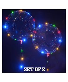 Party Prop Transparent LED Balloons Set of 2- Multicolour
