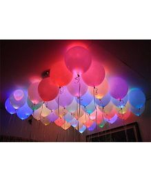 Party Propz LED Balloons Pack of 15 - Multicolour