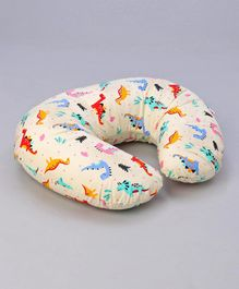 Babyhug Feeding Pillow Dinosaur Bear Print - Cream