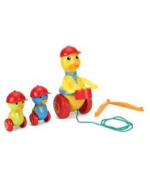 Giggles Duck Parade Pull Along Toy - Red Yellow