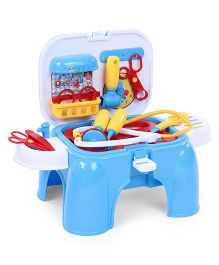 Dr. Toy 3 In 1 Doctor Set With Light And Sound - Blue