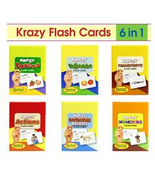Krazy Mini Flash Cards Set of 6 Multi Color - 133345