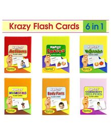 Krazy Mini Flash Cards Set of 6 Multi Color - 133346