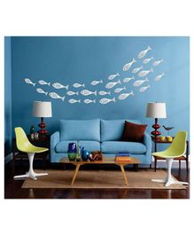 Syga Fish Shape Acrylic Wall Sticker - Silver