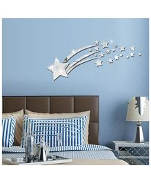 Syga Star Shape Acrylic Wall Sticker - Silver