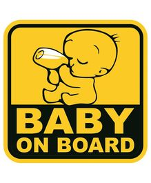 Syga Baby On Board Car Sticker - Yellow