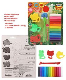 Imagician Playthings Craftival Clay Moulds Animal City - Multicolor