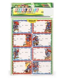 Superman Book Labels - 6 Sheets