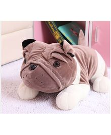 Skylofts Bulldog Soft Toy Dark Brown - Length 70 cm
