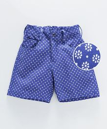 Rikidoos Tiny Flowers Print Shorts - Blue