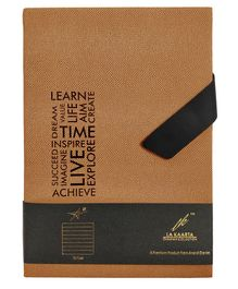 Lock Master A5 Size Notebook Brown  - 224 Pages