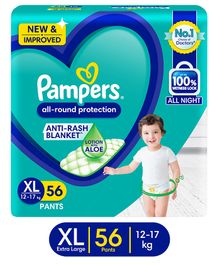 Pampers Pant Style Diapers XL Size - 56 Pieces