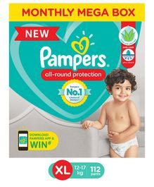 Pampers Pant Style XL Size Diapers Monthly Box Pack - 112 Pieces
