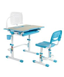 Kidomate Table & Chair With LED Lamp - Blue