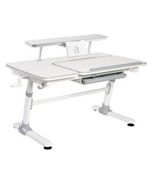Kidomate Study Table With Height Adjustment - Grey