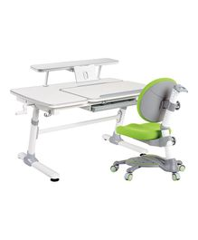 Kidomate Ergonomic Study Table With Chair - Green