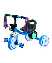 Luusa Tricycle Mission Bike With Led Lights - Blue