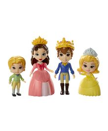 Disney Sofia The First Royal Family Character Figurines Set - 4 Figures